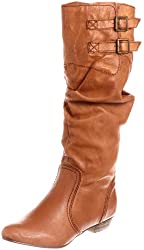 Steve Madden Branddy Womens Size 6 Tan Leather Fashion Knee-High Boots