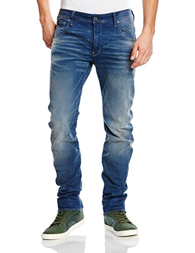 G-Star - arc 3d slim - firro denim, Jeans da uomo, blu (blau  (medium aged 071)), 46/48 IT (33W/34L)