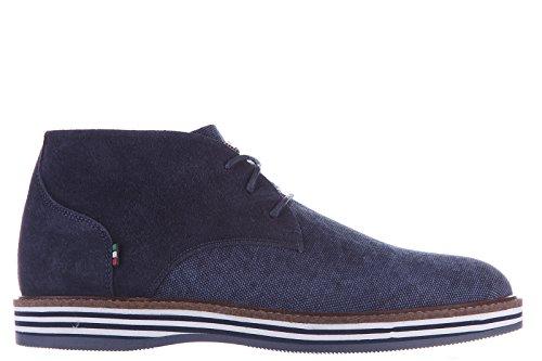 Armani Jeans polacchine stivaletti scarpe uomo camoscio blu EU 42 C6797 79 X5