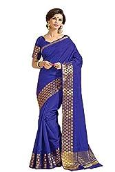 Srinidhi Silks Blue Raw Silk Sari (Ssi Tulsi 2612)