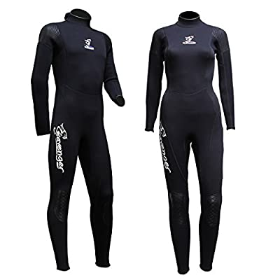 Seavenger 3mm Full Suit Flatlock Stitching Jumpsuit with Super-stretch Armpit Men/women Wetsuits