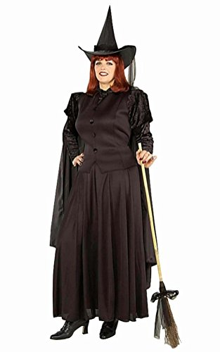 Coslove Plus Size Classic Evil Wicked Witch Full Figure Costume XL to 22