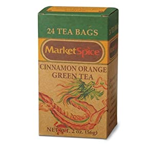 Market Spice Tea Cinnamon Orange Green Tea 24 count box from Market Spice Tea