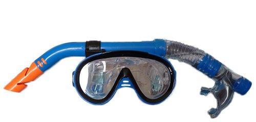 Osprey Erwachsene: Tauchen, Schnorcheln-Set. Eingeschlossen sind: Blau Einheitsgröße Unterwasser Maske und Deluxe Schnorchel.