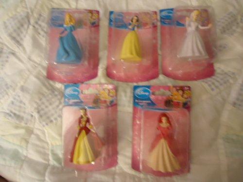 Disney Princess Figurines Set of 5 - Snow White, Belle, Ariel, Aurora, Cinderella - 1