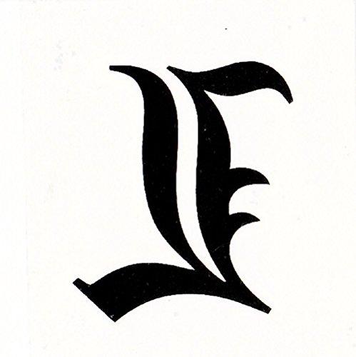 [Alice in Wonder forest]【デスノート DEATH NOTE】 L(エル) コスプレ用 タトゥーシール 防水 se2-254 L