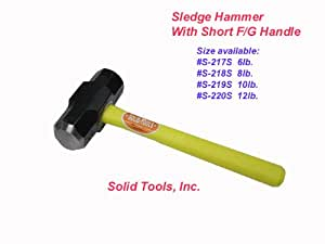 8 LB. Sledge Hammer with Fiberglass Handle-Short Handle
