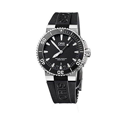 [オリス]ORIS 腕時計 Aquis デイト ブラックダイアル セラミックベゼル オートマチック メンズ [並行輸入品]