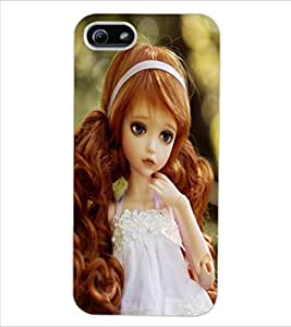 ColourCraft Lovely Doll Design Back Case Cover for APPLE IPHONE 5