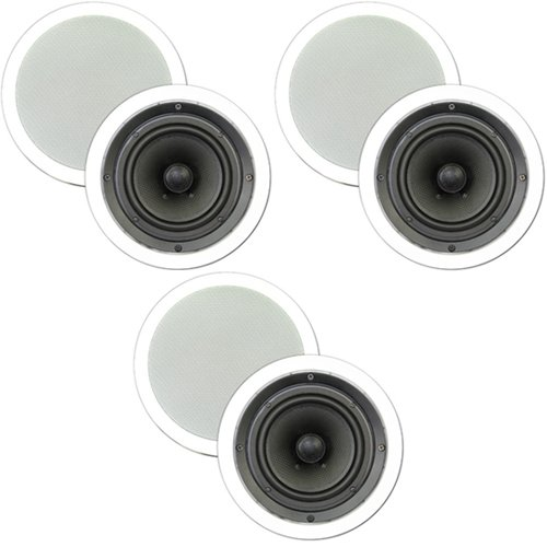 "Theater Solutions 3 New Pairs Of 6.5"" In Ceiling Surround Sound Hd Home Theater Speakers 1200 Watts 3Ts65C"