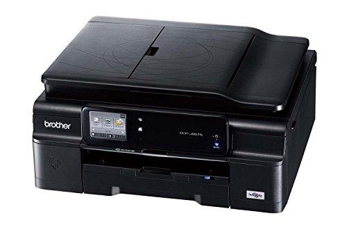 brother A4インクジェットプリンター複合機/黒モデル/10/12ipm/両面印刷/有線・無線LAN/ADF DCP-J957N-B
