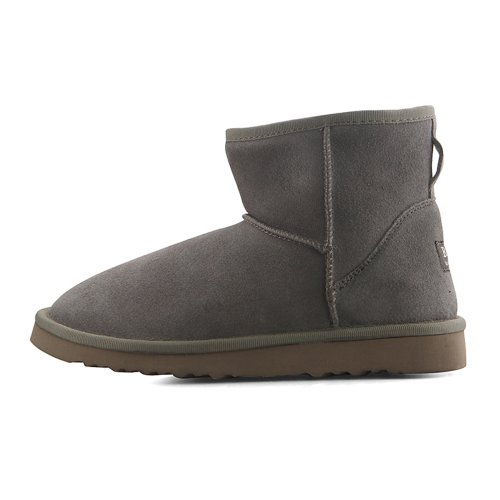 New Grey Leather Lovely Snow Winter Womens Boots
