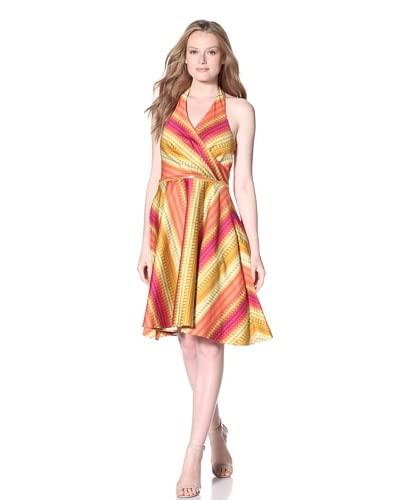 Calvin Klein Women's Printed Fit-and-Flare Dress  - Ember Multi