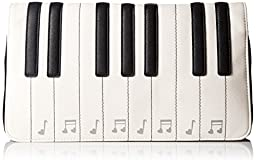 Betsey Johnson Kitch Piano Clutch, Black/White, One Size
