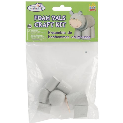Multicraft Imports Foam Pals DIY Craft Kit, Hippo