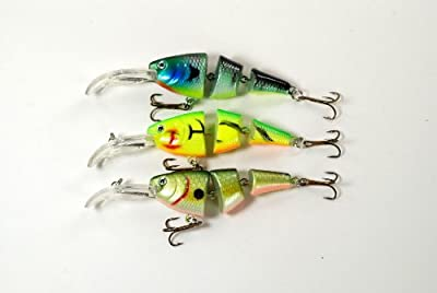 Akuna Shallow Diving Swimbait Fishing Lures For Bass And Trout Pack Of 3 from Akuna
