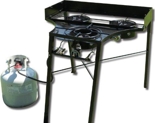 King kooker 3030 tall 3 burner campstove 30 inch for Fish cooker burner
