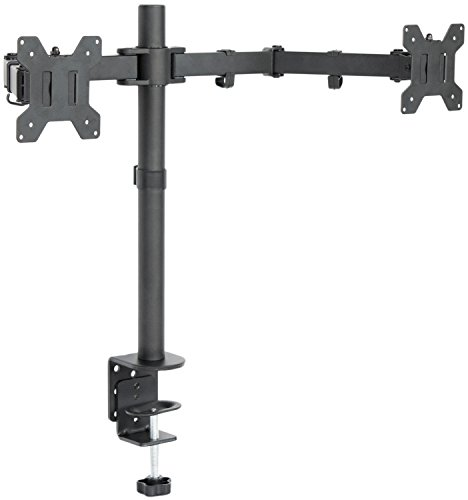 VIVO Dual LCD Monitor Desk Mount Stand Heavy Duty Fully Adjustable fits 2 /Two Screens upto 27