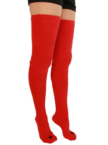 YogaColors Cotton Solid Thigh-High Heart Sock