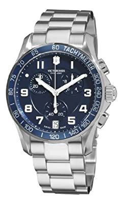 Victorinox Swiss Army Men's 241497 Chrono Classic Blue Chronograph Dial Watch