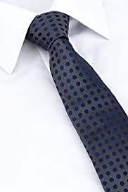 XL Autograph Pure Silk Spotted Tie