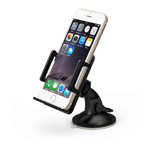 Taotronics Universal Windshield & Dashboard Car Mount Cradle Holder For Iphone 6 5S 5C 5 4S 4 3Gs, Samsung Galaxy Note 3 Note 2 S4 S3 Mega, Nokia Lumia 1020 925 928 920, Htc Desire 500 Droid Dna One 8X 8S, Google Nexus 4, Blackberry Q10 Q5 Z30 Z10, Lg Opt