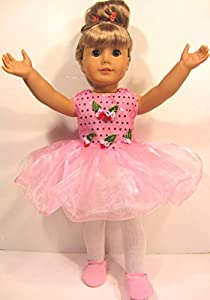 PINK BALLET Dance Outfit Fits American Girl Doll BALLET DRESS, SLIPPERS, HEADBAND ~ 18 Inch Doll Clothes