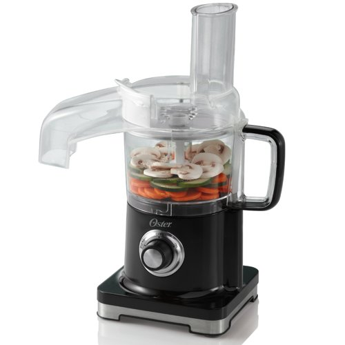 Oster FPSTFP4010 4-Cup Continuous Flow Mini Food Processor, Black