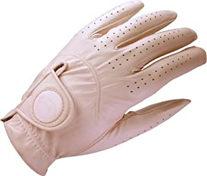 Bella Crystal Ladies Pink Golf Glove