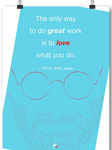 Apple Thinkpot The Only Way To Do Great Work Is To Love What You Do. - Steve Jobs, Apple Poster 12X18 (Green)