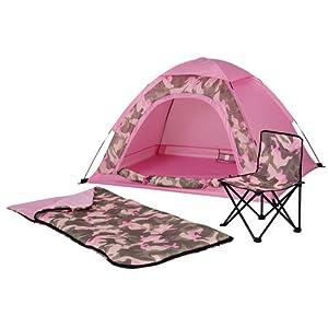 Amazon Com Kids 5 X 4 Camo Dome Tent Sleeping Bag And