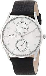 Skagen Men's SKW6065 Holst Stainless Steel Watch with Black Leather Band