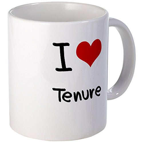 CafePress I love Tenure Coffee Mug - S White
