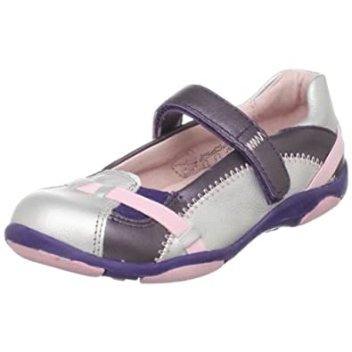Umi Arabella Mary Jane (Infant/Toddler/Little Kid),Silver/Purple,24 M EU (8 M US Toddler)