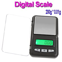 Constructan(TM) LCD Digital Pocket Jewelry Coin Gold Scale 200g * 0.01g