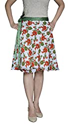 DeeVineeTi Floral Women's Wrap Around Skirt, Multicolor, FreeSize