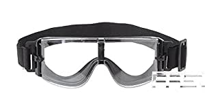 Sports Cycling Tactical Unisex Goggles - Black + Translucent, 2*Replaceable Lens