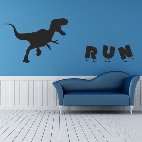 Wall Decor Vinyl Sticker Room Decal Word Dinosaur Predator Run Animal Letter Character Kid Children Boy Power Energy (S102) front-890862