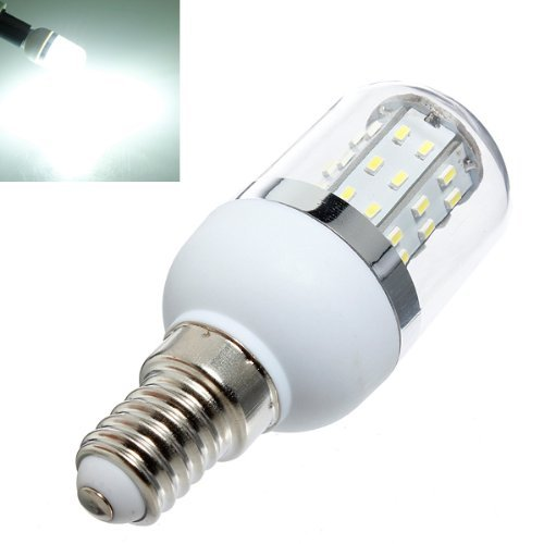 Bestope E14 3W Led Corn Light Bulb With Cover Pure White 48 Smd 3014 Ac 85-265V