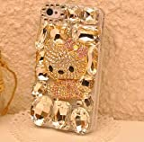 ◆3Dデコ盛り♪♪キラキラ♪ラインストーンケース/iphone5/アイフォン5/専用ケースカバー/kitty/キティ