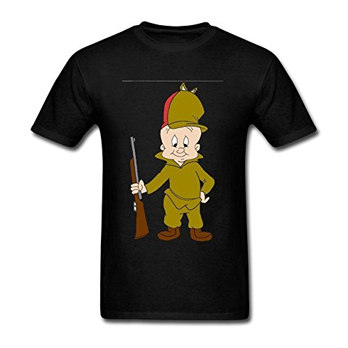 Tommery Men's ELmer Fudd Short Cotton T Shirt (Shane Co Rings compare prices)
