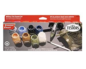 Testors Military Flat Enamel Paint Set