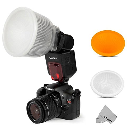 Fomito Universal Cloud Lambency Flash Diffuser + Cover White & Orange Set for Flash Speedlite (Flash Cover compare prices)