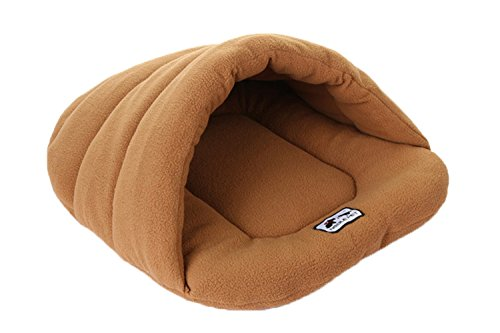 Spring fever Textile Pet Cave and Round Hooded Portable Cushion Cat Dog Pet Bed Camel L (22.826.8 inch) (Recliner Cycle compare prices)