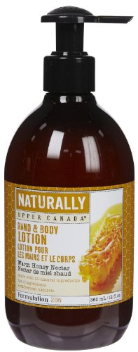 Naturally Nourishing Hand & Body Lotion-Warm Honey Nectar-12, oz. (Naturally Upper Canada Lotion compare prices)