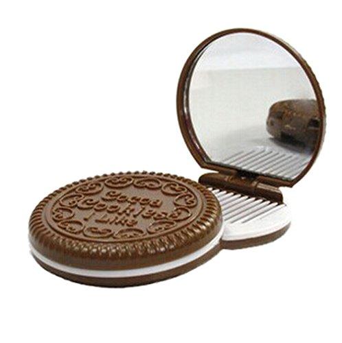 Y-BOA 1PC Miroir de Poche Petit Biscuit