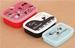 coupon for kutusita nyanko cats piano bento box 3 pcs lunch box coupon amazon. Black Bedroom Furniture Sets. Home Design Ideas