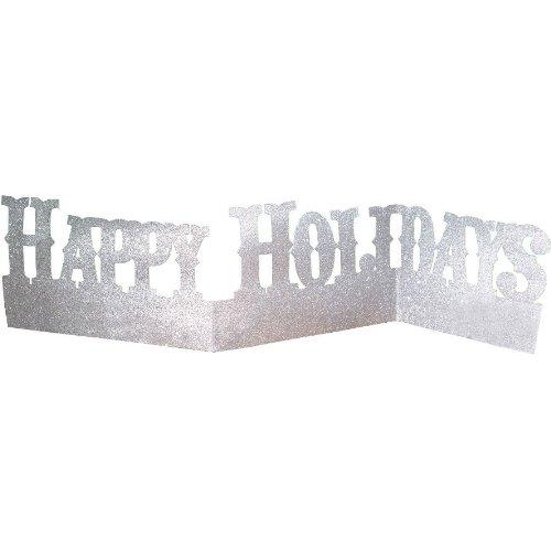 Happy Holidays Glitter Centerpiece 29 in. x 6.75 in