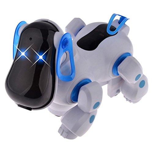 SmartEra® Musique électronique marche robot animal chien, jouets amusants pour les enfants (bleu)