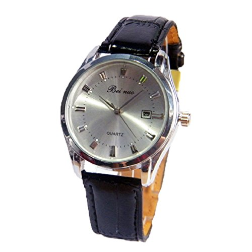 Changeshopping(Tm) 2015 New Luxury Fashion Faux Leather Mens Quartz Analog Watch Watches